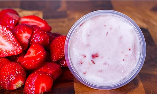 Naughty Little Kids strawberry flavoured gelato